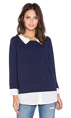 Soft Joie Emma B Blouse in Midnight Blue