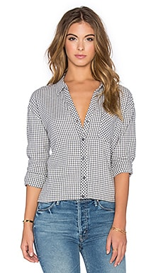 Soft Joie Fran Button Down in Cool Grey