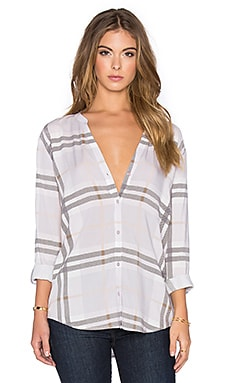 Soft Joie Dane Button Down in Iris & Porcelain