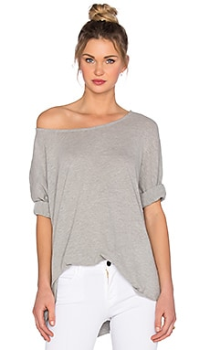Soft Joie Gracia Tee in Heather Grey