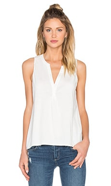 Carley V Neck Tank in Porcelain