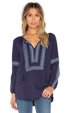Bekele Embroidered Top in Peacoat