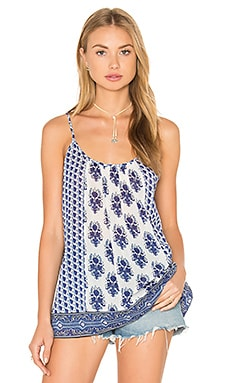 Sparkle Tank in Porcelain & Atlantic Blue