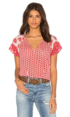 Soft Joie Dolan Top in Porcelain & Coral Reef