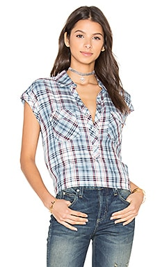 Johnesha Top in Washed Denim