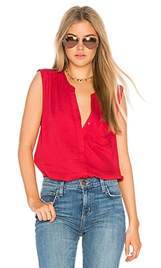 Caridad Tank in Lipstick Red