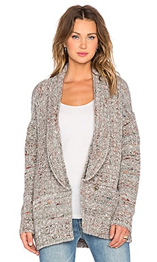 SOH Double Shawl Collar Cardigan in Cobble