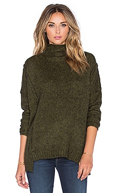 SOH Funnel Neck Pullover Sweater in Spruce