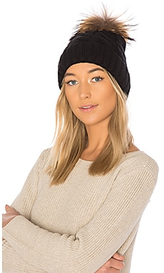 Amalie Beanie With Raccoon Fur