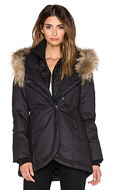 Soia & Kyo Zina Jacket with Real Natural Asiatic Raccoon Fur in Black