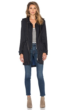 Soia & Kyo Nollie Trench Coat in Black