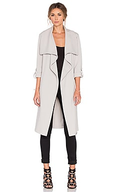 Ornella Trench Coat in Kiesel