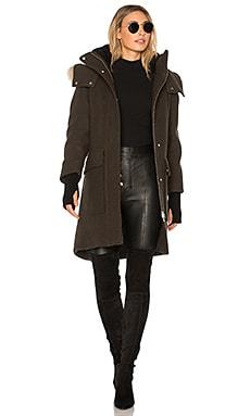 Karine Coyote Fur Trimmed Wool Coat Soia & Kyo $362