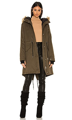 Elloise Parka With Faux Fur Trim Soia & Kyo $695