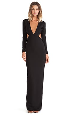 SOLACE London Velasco Maxi Dress in Black