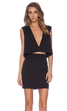 SOLACE London La Maire Mini Dress in Black