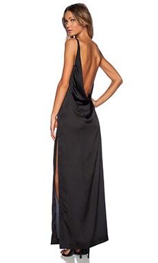 SOLACE London Rosario Maxi Dress in Black