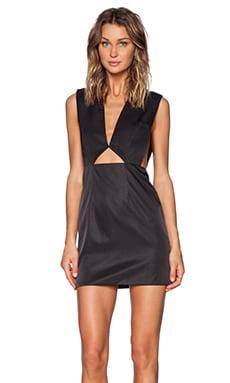 SOLACE London Tyler Mini Dress in Black