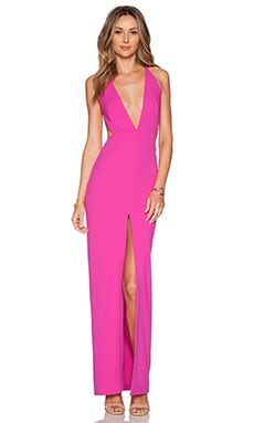 SOLACE London Irvin Maxi Dress in Fuschia Pink