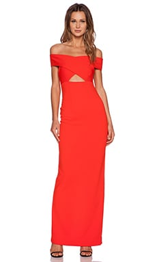 SOLACE London Cara Maxi Dress in Red