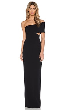 SOLACE London Piano Maxi Dress in Black