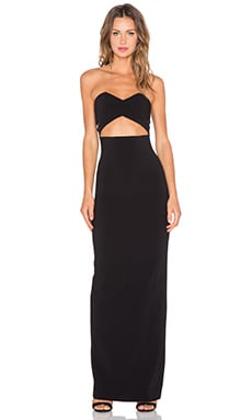 SOLACE London Goldie Maxi Dress in Black