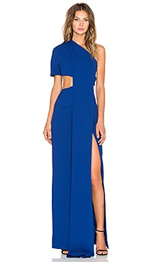 SOLACE London Sokari Maxi Dress in Blue