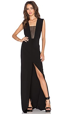 SOLACE London Inka Maxi Dress in Black
