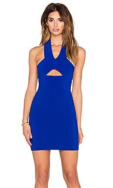 SOLACE London Emmi Mini Dress in Blue