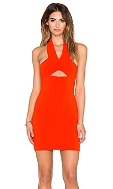 SOLACE London Emmi Mini Dress in Orange
