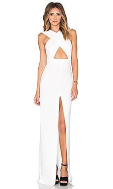 SOLACE London Brooke Maxi Dress in Cream