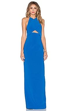 SOLACE London Keaton Maxi Dress in Azure