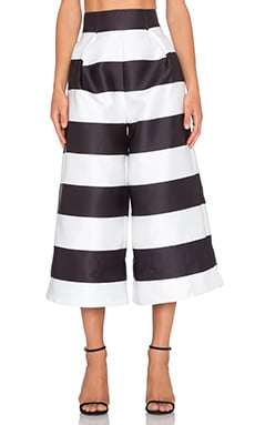 SOLACE London Evelyn Culotte in Stripe