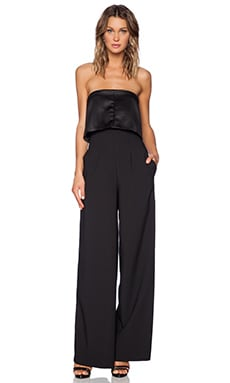 SOLACE London Tailor Jumpsuit in Black