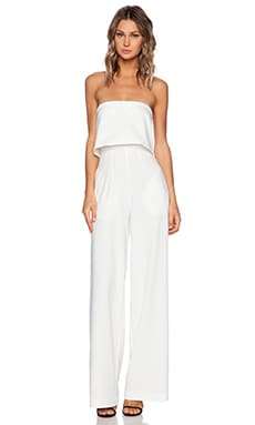 SOLACE London Tailor Jumpsuit in White
