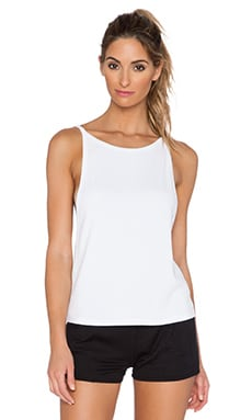 SOLOW Coated Spaghetti Tank in White