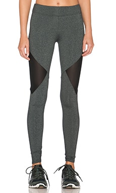SOLOW Side Mesh Cutout Legging in Grey