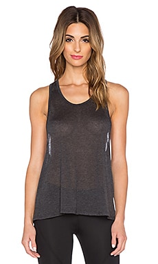 SOLOW Racerback Tank in Graphite