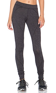 SOLOW Spacedye Paneled Legging in Charcoal