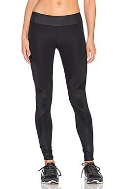 SOLOW Embossed Leather Legging in Black