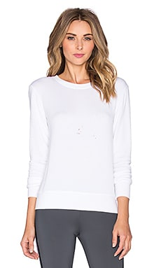 SOLOW Destroyed Pullover in White
