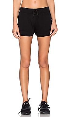 SOLOW Jagged Edge Lounge Short in Black