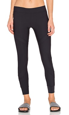 Convergent Zip Legging in Black