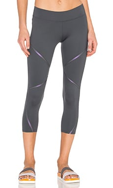 Cut Block Legging in Carbon