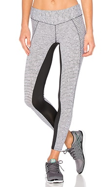 Crosscut Ankle Legging in White Stripe