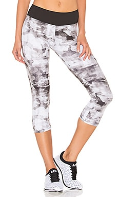 Weathered Camo Capri Legging