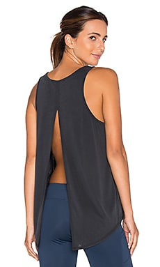 Split Lounge Tank in Black