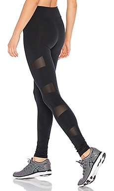 SOLOW Stiletto Mesh Legging in Black