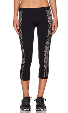 SOLOW Lace Side Panel Legging in Black