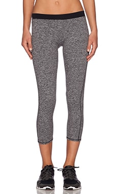 SOLOW Contrast Band Legging in Grey & Black
